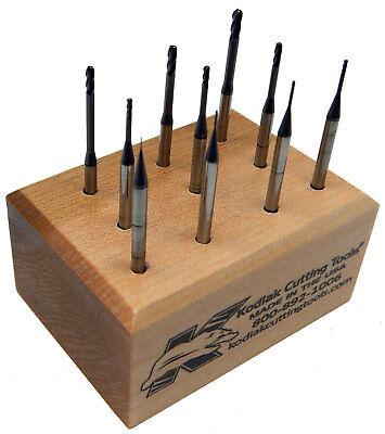 USA Made Long-Reach Ball Nose Carbide End Mill Set .010-.100 8Xs Dia Reach