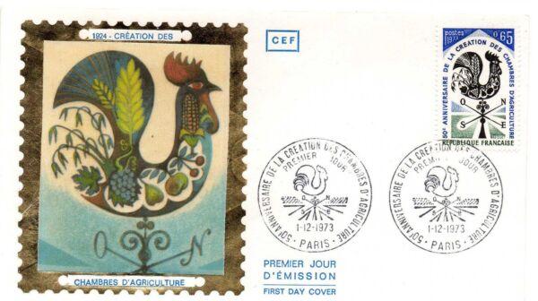 1 Enveloppe Premier Jour Fdc Cef 1973 Chambre Agriculture Collection Bon Pour AntipyréTique Et Sucette De La Gorge