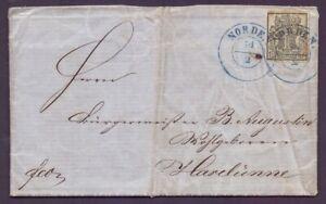 Lettera Hannover-MINR. 9 come singoli spese di spedizione da nord a Haselünne (063)