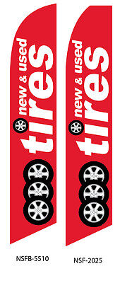 New /& Used Tires Two Swooper Feather Flag Kits 2