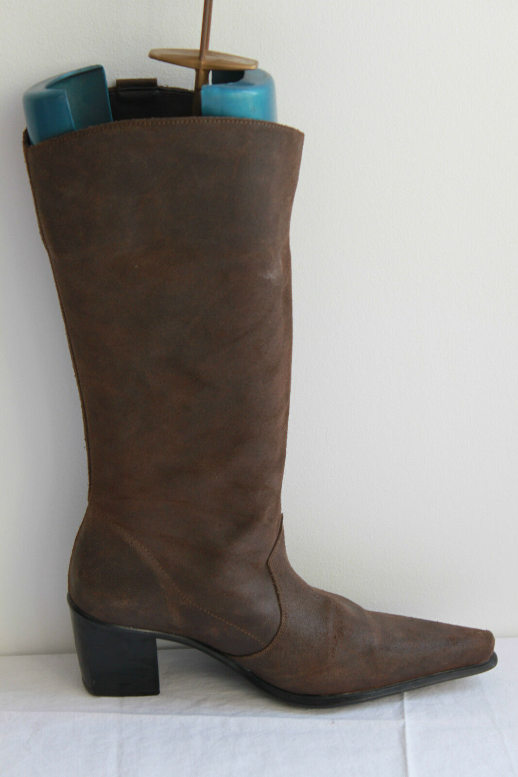 Mid Boots Pointed Brown Leather Style Cowboy boots T 39 BE