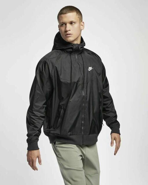 Nike Windbreaker Black Windrunner Jacket Mens Large Ar2191 010