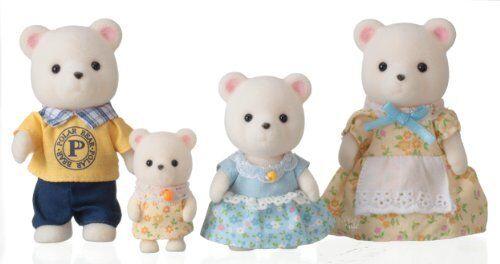 New Calico Critters doll polar bear family FS-19 Japan