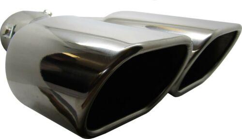 Twin Square Stainless Steel Exhaust Trim Tip BMW 5 Series 1995-2016