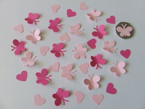 150-BUTTERFLY-HEART-WEDDING-CHRISTENING-TABLE-CONFETTI-SPRINKLES-DECORATION