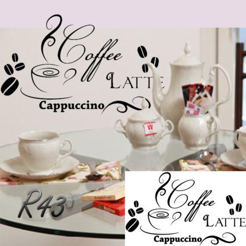 Café Latte Cappuccino Espresso signo de vinilo de pegatina Bares Hoteles cafés bares