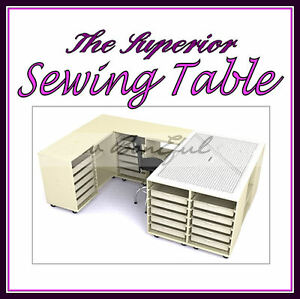 BonEful NEW Sewing LARGE Craft Storage Cutting Table