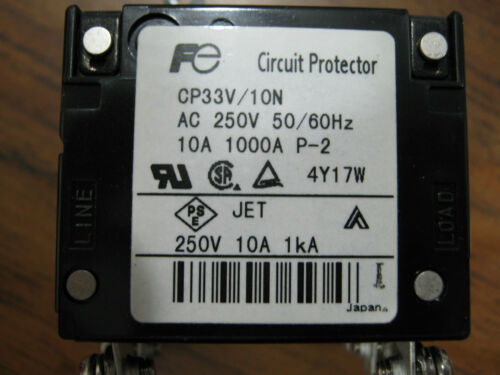 10N   />/> TESTED FUJI ELECTRIC CIRCUIT PROTECTOR CP33V