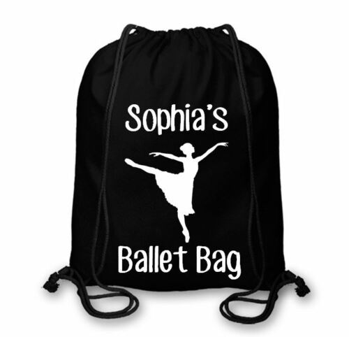 Personalised Cotton Named Ballet Bag Ballet Dance Drawstring Bags CSB106