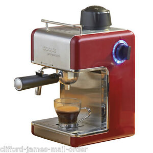 Cooks Professional Coffee Maker Red : Cooks Professional Italian Espresso Latte Coffee Espresso Cappuccino Machine Red eBay