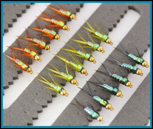 Trout Fishing Flies Nymphs Barbed BARBLESS Hooks 10 12 14  33J-1