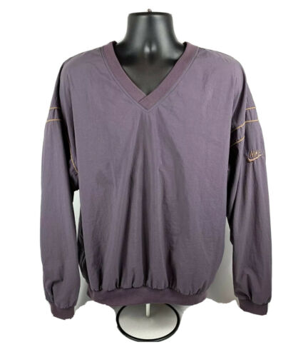 Nike Vintage 90's Golf Purple V-Neck Pullover Wind