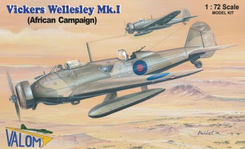 African Campaign 1//72 model kit, Valom 72090 Vickers Wellesley Mk I