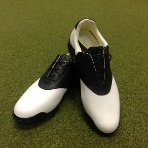 online store 6d179 e67f2 Image is loading NEW-Adidas-Adipure-Classic-Saddle-Leather-Golf-Shoes-