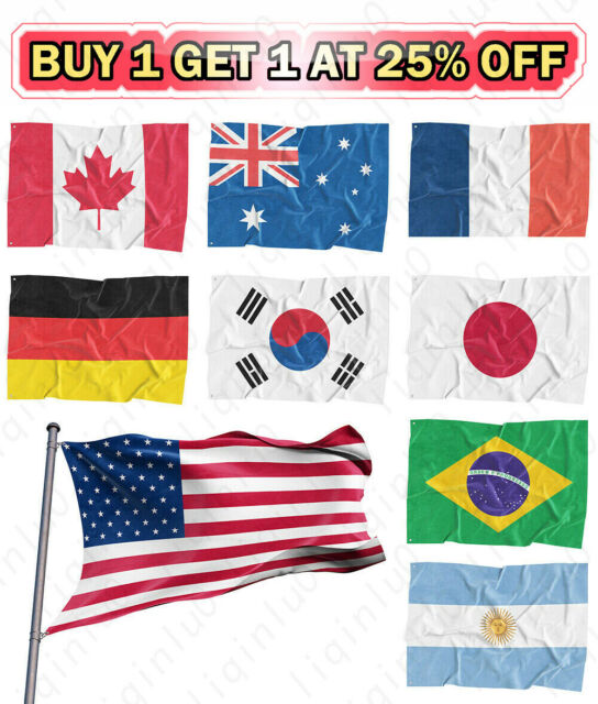 Country National Flag 5ft x 3ft Canada
