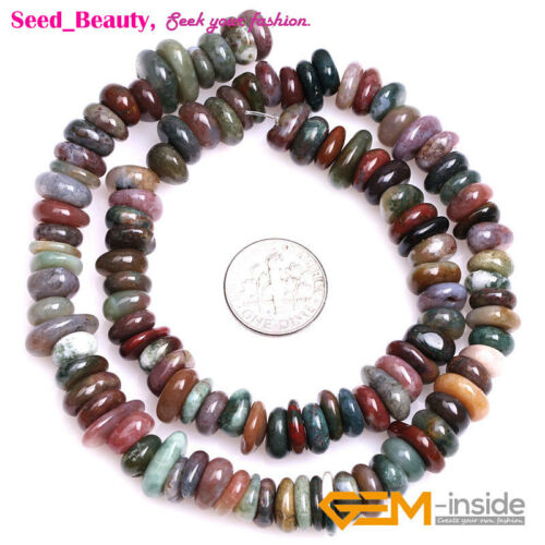 """3-5x9-13mm Natural Stone Freeform Chips Beads for Jewelry Making 15/"""" Wholesale"""