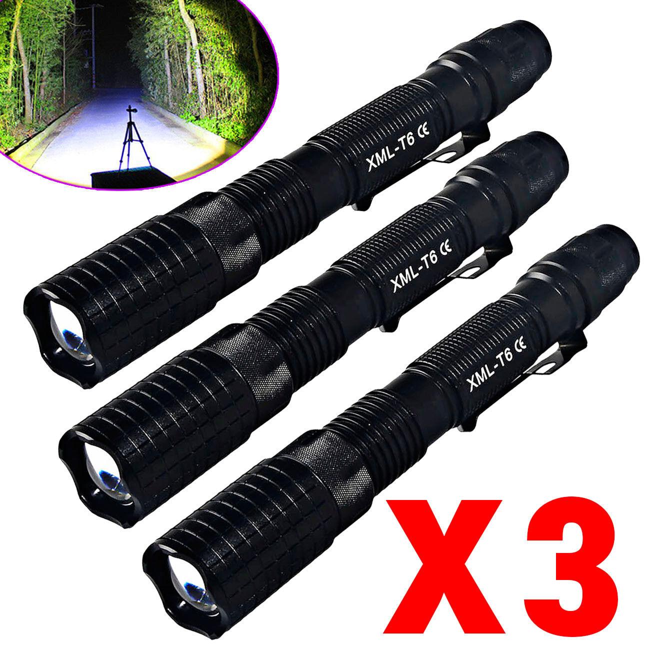 Tactical Police 90000Lumen 18650  LED Flashlight Aluminum Torch Zoomable Lamp USA  zero profit