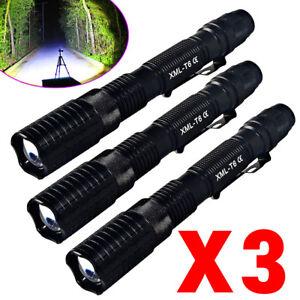 Tactical Police 150000Lumens T6 LED Flashlight 5 Modes Torch Lamp Aluminum Focus
