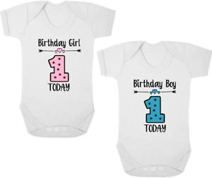 """1st Anniversaire New Baby Body/croissance/gilet/ange, Présent/cadeau, Anniversaire Fille/garçon-vest/romper, Present/gift, Birthday Girl/boy"""" afficher Le Titre D'origine Doux Et LéGer"""