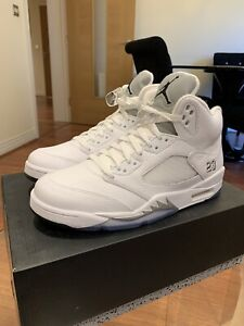 Nike Air Jordan 5 Retro Metallic White