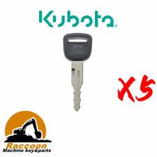 5pcs T0270 81840 Ignition Start Starter Keys For Kubota L Series Cab Tractor
