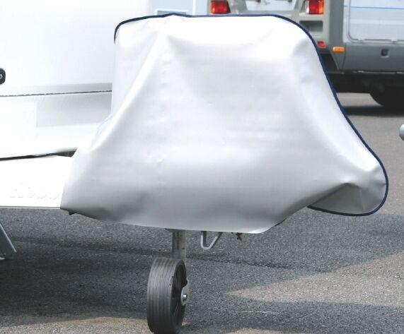 Deichselhaube Caravan Wohnwagen Deichselschutzhülle Folie silber 12 Hindermann