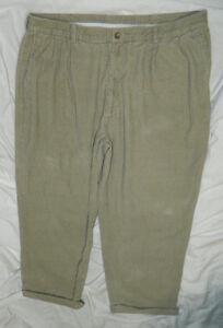 Mens Classic Ivy Crew Brand Khaki Casual Corduroy Pants
