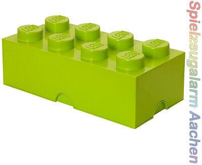 LEGO Storage Brick 8 light green HELLGRÜN Stein 2x4 Aufbewahrung  Box Kiste