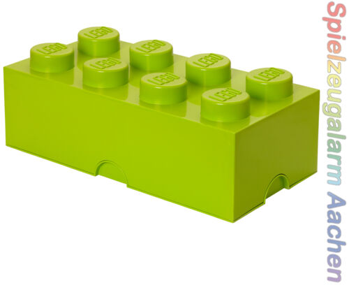 LEGO storage Brick 8 light green vert clair pierre 2x4 de rangement Box Caisse