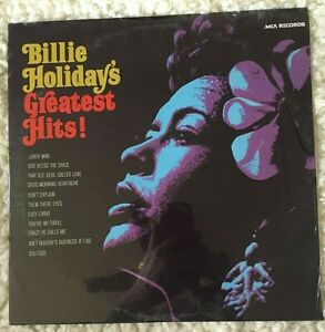 BILLIE HOLIDAY VINYL greatest hits LP SEALED 1977 reissue of 1968 LP Lover Man