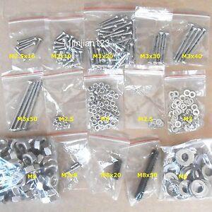 3D Printer Prusa Mendel Hardware Kit fastener Set Nut Washer Bolt Grub Screw
