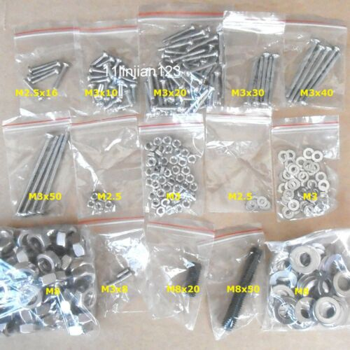 3D Printer Prusa Mendel Hardware Kit fastener Set Nut Washer Bolt Grub Screw