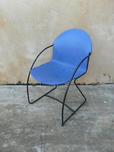 Fauteuil-Chaise-STRAFOR-Wittmann-AM-Accoudoirs-Metal-Design-Vintage-Retro-Ancien