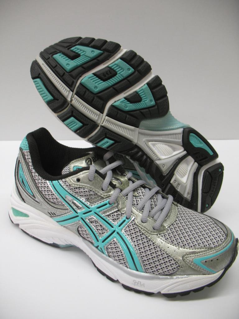 Asics TQ8B7 Gel Fortitude 3 Running Training Schuhes Sneakers Silver Mint Damenschuhe