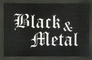 Rockbites-Doormat-034-Black-amp-Metal-034-Black-White-Nr-169-100828-Doormat
