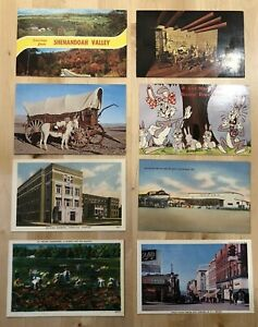 VINTAGE-Lot-Of-74-Post-Cards-from-all-over-the-United-States-EPHEMERA