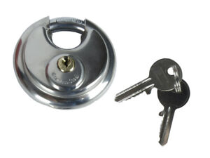 Round-Discus-Shackle-Padlock-Stainless-Steel-With-2-Keys-70mm-Heavy-Duty
