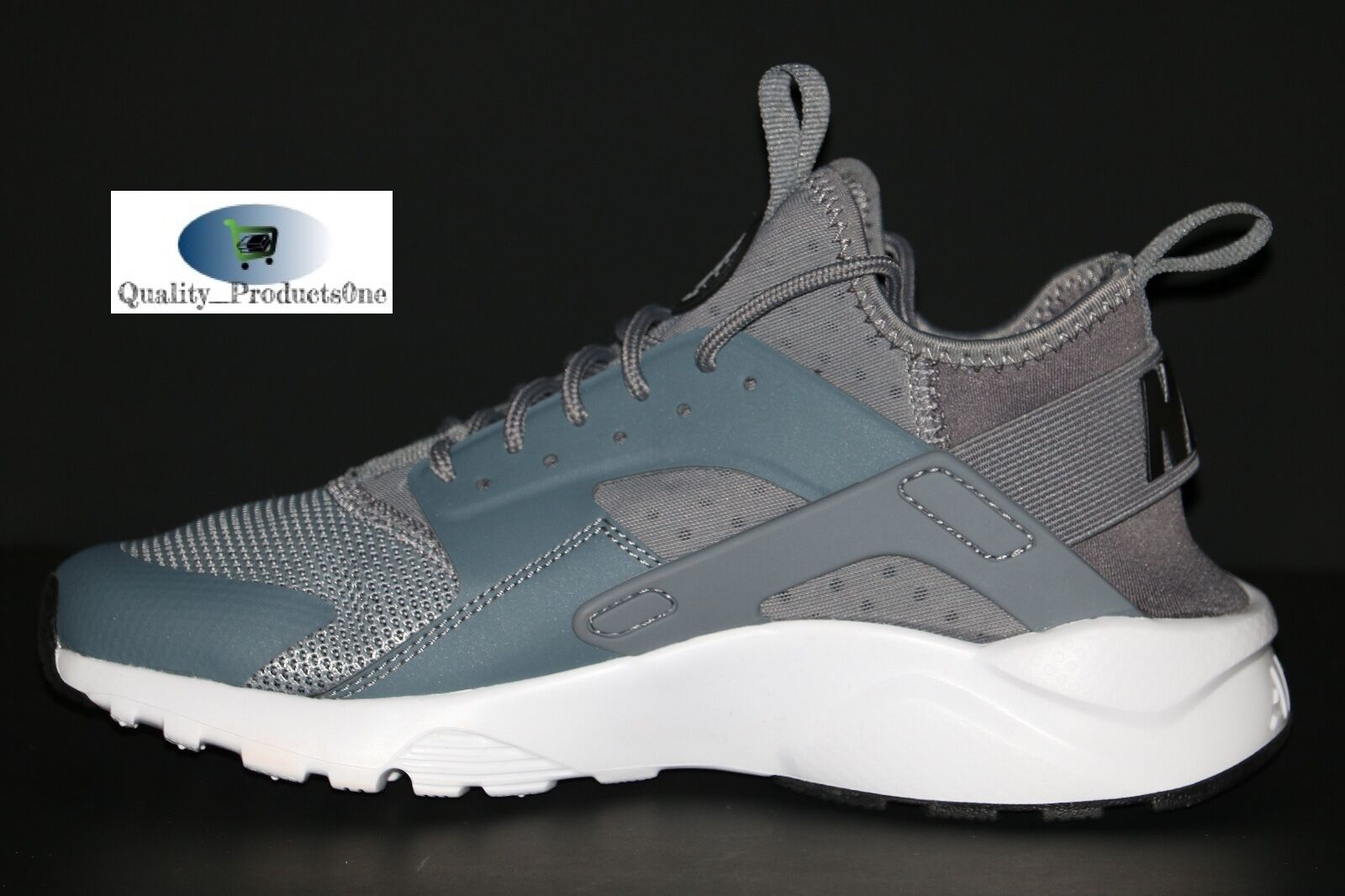 219d9d350a0b0c ... Nike Air Huarache Huarache Huarache Run Ultra Cool Grey White Black  819685 011 Size 6 782877 ...