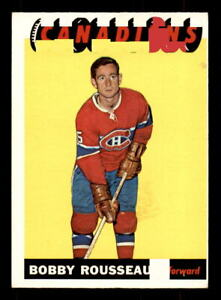 1965-66-Topps-70-Bobby-Rousseau-Canadiens-NRMT-Tape-ref-9044