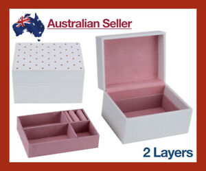 Jewellery-Box-Cosmetic-Make-Up-Organiser-PU-Leather-Case-Storage-Gift-Womens-NEW