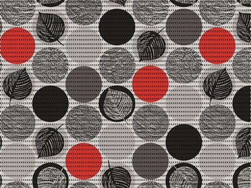 8€//m² DCFix Bodenbelag Dots red Weichschaum Bodenmatte Badteppich Badvorleger