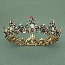 Elegant Bridal Crown Bride Accessories Wedding Hair Jewelry Golden Leaves Tiara