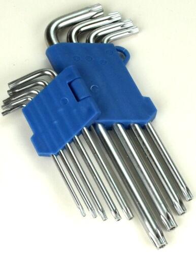 Torx Schlüssel Satz 9x Schraubendreher Set Werkzeug Hobby Winkelschlüssel k7
