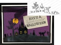 Halloween Hill American made Steel Dies by Impression Obsession DIE029-P New Craft Supplies