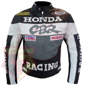 HONDA-CBR-GREY-MOTORBIKE-MOTORCYCLE-BIKERS-COWHIDE-LEATHER-ARMOURED-JACKET