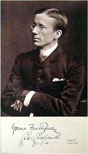 1905-Composer-Actor-Writer-GEORGE-GROSSMITH-Hand-SIGNED-AUTOGRAPH-PHOTO-MAT