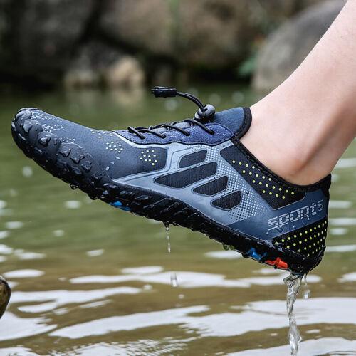 Mens Casual Swiming Shoes Lace Up Non-slip Moccasin Summer Beach Shoes Plus sz