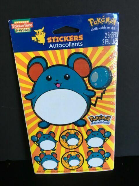 1 Sheet POKEMON 3D STICKERS American Greeting Sticker