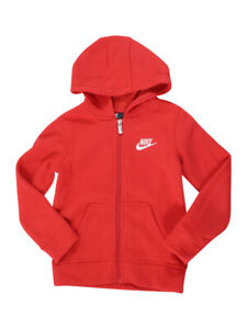 Nike-Toddler-Boy-039-s-Club-Fleece-Red-Zip-Front-Hooded-Sweatshirt-Shirt-Sz-4T