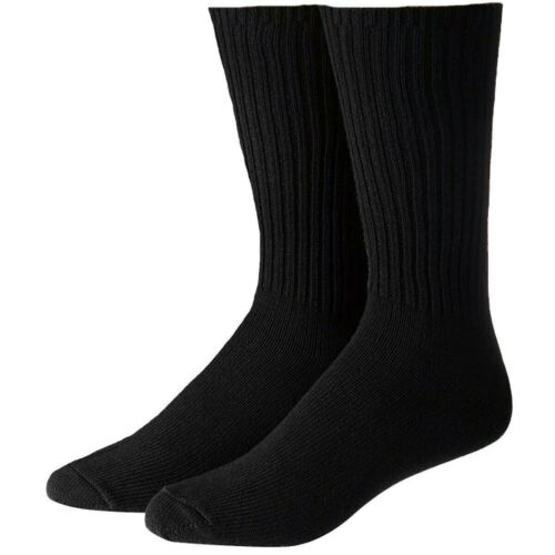10 Pairs Mens Black Cotton Rich Sports Crew Socks 7-12